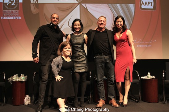 Blue Michael, Becky Curran, Lia Chang, Rick Guidotti and Jennifer Betit Yen attend a special screening of 72 Hour Shootout films and panel discussion at the Time Warner Theater in New York on October 7, 2015. Photo by GK