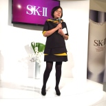 Elite Magazine publisher Ellen Wang at the SK-II Pop-up Studio in New York on October 22, 2015. Photo by Garth Kravits
