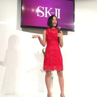 Lia Chang at the SK-II Pop-up Studio in New York on October 22, 2015. Photo by Garth Kravits