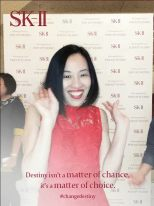 Lia Chang at the SK-II Pop-up Studio in New York on October 22, 2015.