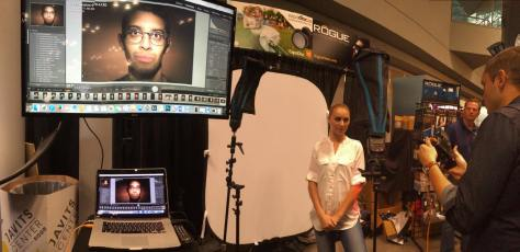 Rogue Flashbender demo at PDN's 2015 PhotoPlus International Conference + Expo at the Javits Center in New York on October 23, 2015. Photo by Lia Chang