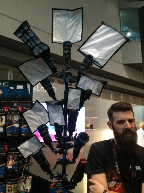 Rogue Flashbenders for your every photographic need at PDN's 2015 PhotoPlus International Conference + Expo at the Javits Center in New York on October 23, 2015. Photo by Lia Chang