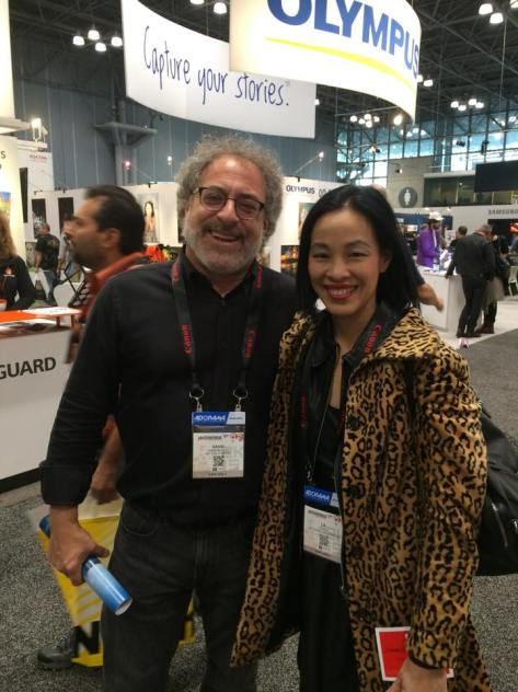 David Handschuh and Lia Chang at PDN's 2015 PhotoPlus International Conference + Expo at the Javits Center in New York on October 23, 2015.