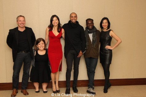 Rick Guidotti, Becky Curran, Jennifer Betit Yen, Blue Michael, Daryl King and Lia Chang attend a special screening of 72 Hour Shootout films and panel discussion at the Time Warner Theater in New York on October 7, 2015. Photo by Lil Rhee