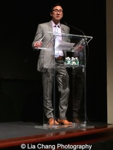 Roger Chu, Director, Corporate Human Resources at Time Warner, Inc. at the Time Warner Theater in New York on October 7, 2015. Photo by Lia Chang