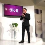 Steve Jan, SK-II National Brand Ambassador at the SK-II Pop-up Studio in New York on October 22, 2015. Photo by Garth Kravits