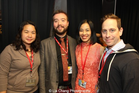 Phuong Nguyen, PAAFF'15 Development Director, Rob Buscher, PAAFF'15 Festival Director, Lia Chang and Garth Kravits at the Asian Arts Initiative in Philadelphia after the screening of the Women's Shorts Program on November 21, 2015. Photo courtesy of PAAFF'15.