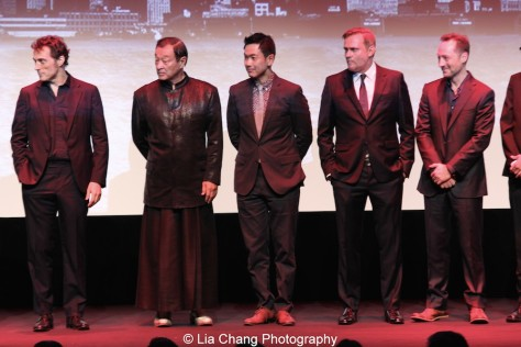 Rufus Sewell, Cary-Hiroyuki Tagawa, Joel de la Fuente, Carsten Norgaard, Brennan Brown attend the episode screening and premiere for the Amazon Originals Series 'The Man in the High Castle' at Alice Tully Hall on November 2, 2015. Photo by Lia Chang