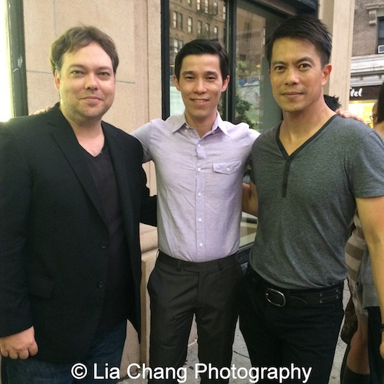 Photo of Jason Tobin & his friend celebrity  Byron Mann -