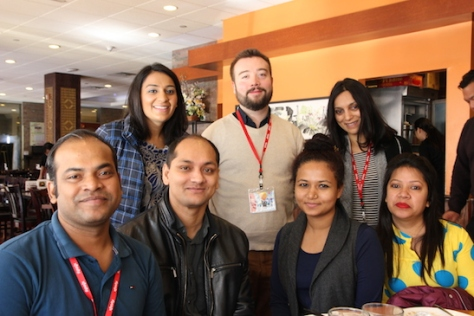 Abu Shahed Emon (Jalal's Story), Reema Kanzaria, Kamrul Islam, Rob Buscher Anika Haq Mim, Megha Kadakia (Miss India America) and Tauhida Sumi. Photo by Lia Chang