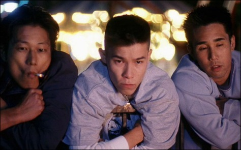 Han (Sung Kang), Virgil (Jason J. Tobin) and Ben (Parry Shen) are overachieving high school honor students in Orange County who live second lives at night as a gang responsible for criminal mischief in Better Luck Tomorrow. Photo: MTV Films