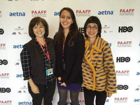 'Fall Seven Times Get Up Eight: The Japanese War Brides' received The Best Documentary Short Award. Left to Right: Karen Kasmauski, Megumi Nishikura, Kathryn Tolbert at the Philadelphia Asian American 8th annual Film Festival on Nov. 22, 2015. Photo courtesy of Karen Kasmauski