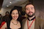 Lia Chang and PAAFF'15 Festival Director Rob Buscher. Photo by Garth Kravits