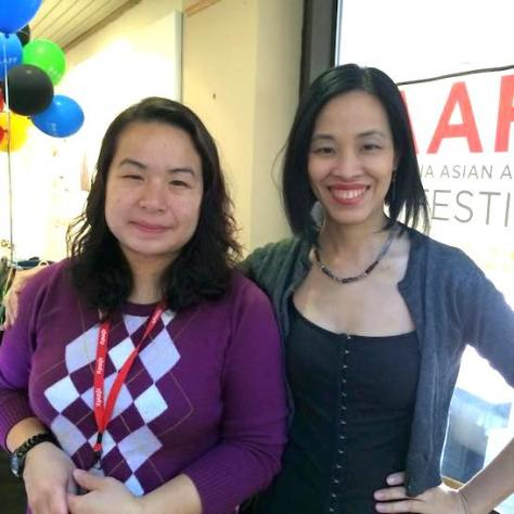 Phuong Nguyen, PAAFF'15 Development Director and Lia Chang. Photo by Garth Kravits