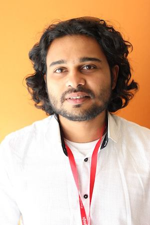 Rishi Bhilawadikar, writer and producer of FOR HERE OR TO GO?. Photo by Lia Chang