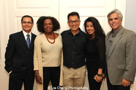 "Screening of ""The Killing Fields of Dr. Haing S. Ngor,"" International House, October 22, 2015, New York. (L-R) Wayne Ngor, Dr. Ngor's nephew and narrator of the film, casting director Pat Golden, director Arthur Dong and Sophia Ngor, Dr. Ngor's niece and film subject. Photo by Lia Chang"