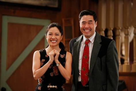 Constance Wu and Randall Park in ABC's 'Fresh Off the Boat'. Credit: ABC
