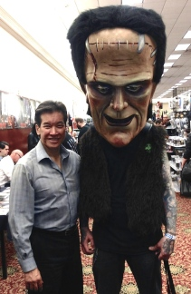 Peter Kwong and Frankenhead at HorrorHound Weekend at the Marriott Indianapolis East, September 2015.