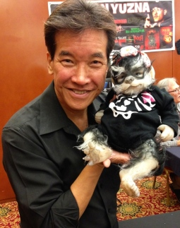 Peter Kwong and Horror Pup at HorrorHound Weekend at the Marriott Indianapolis East, September 2015.