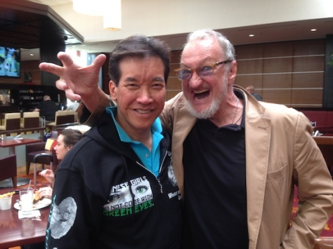 Peter Kwong and 'Nightmare on Elm Street's Robert Englund (Freddy Kreuger) at HorrorHound Weekend at the Marriott Indianapolis East, September 2015.