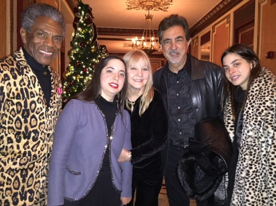 André De Shields, Mia Mantegna, Arlene Mantegna, Joe Mantegna and Gia Mantegna. Photo by Merle Frimark