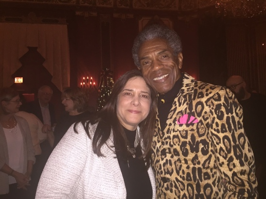 Producer Dori Berinstein and André De Shields on the opening night of the Pre-Broadway Bound GOTTA DANCE in Chicago. Photo by Merle Frimark