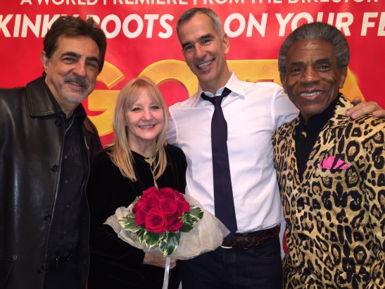 Joe Mantegna, Arlene Mantegna, Jerry Mitchell and André De Shields. Photo by Merle Frimark