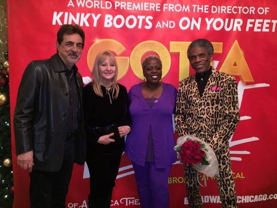 Joe Mantegna, Arlene Mantegna, Lillias White and André De Shields. Photo by Merle Frimark