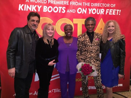 Joe Mantegna, Arlene Mantegna, Lillias White, André De Shields and Murphy Cross. Photo by Merle Frimark