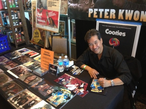 Peter Kwong signs autographs at Son of Monsterpalooza in Burbank on September 19, 2015.