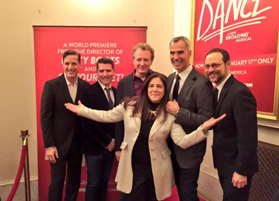 Producer Bill Damaschke, bookwriters Chad Beguelin and Bob Martin, producer Dori Berinstein, director Jerry Mitchell and composer Matthew Sklar. Photo: @BroadwayChicago