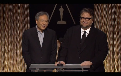 Directors Ang Lee and Guillermo del Toro announced the Oscar nominations on January 14, 2016.