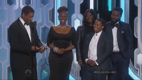Denzel Washington, Winner, Cecil B. Demille Award, his wife Pauletta Pearson Washington, and their children Olivia Washington, Katia Washington and John David Washington, at the 73rd Annual GOLDEN GLOBE AWARDS held at the Beverly Hilton Hotel on January 10, 2016.