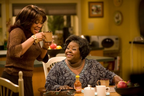 """Denise Burse (""""Claretha Jenkins,"""" left) and Cassi Davis (""""Ella Payne,"""" right) star in Lionsgate Home Entertainment's TYLER PERRY'S HOUSE OF PAYNE: VOLUME ONE. Photo: Lionsgate"""