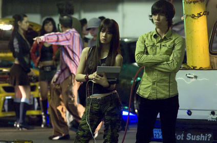 Keiko Kitagawa as Reiko and Jason Tobin as Earl in Justin Lin's 'The Fast and the Furious: Tokyo Drift'. Photo: © 2006 Universal Studios