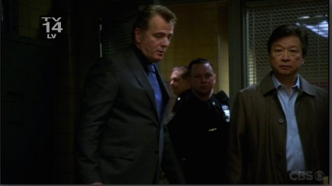 "Aidan Quinn and Tzi Ma in ""Elementary""."