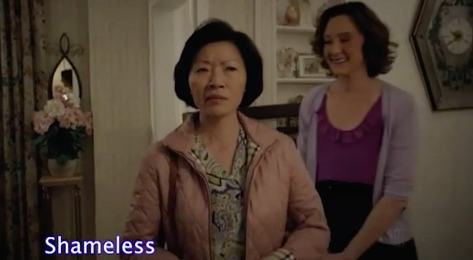 """Elizabeth Sung and Joan Cusack in Showtime's """"Shameless"""""""