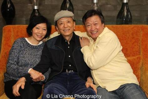 Elizabeth Sung, James Hong and Tzi Ma at the SIXTY Lower East Side Hotel in New York on December 11, 2015. Photo by Lia Chang