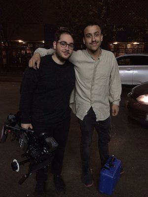 Director of Photography Anthony Carella and filmmaker Matthew Dillon Cohen on location New York Chinatown for Kemosabe. Photo by Lia Chang