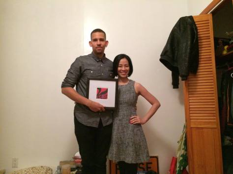 NoMBe and Lia Chang on the set of Kemosabe in New York.