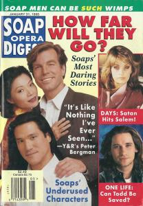 Classic Soap Opera Digest Cover Date: January 31, 1995- Elizabeth Sung, Peter Bergman and Phillip Moon