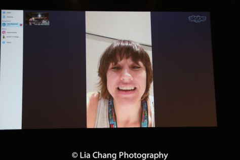 A Skype session with I BELIEVE IN UNICORN director Leah Myerhoff from Austin, at TWFF'16 at the University of the Arts' Caplan Recital Hall in Philadelphia on March 13, 2016. Photo by Lia Chang.