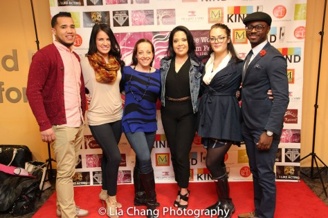 SANTO filmmaker Stephanie Ramones is flanked by the dancers who appeared in her film at TWFF2016 at the University of the Arts' Caplan Recital Hall in Philadelphia on March 13, 2016. Photo by Lia Chang.