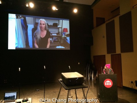 A Skype session with BREATH OF CLAY director Sandra Formatger Garcia from Paris, at TWFF'16 at the University of the Arts' Caplan Recital Hall in Philadelphia on March 13, 2016. Photo by Lia Chang.