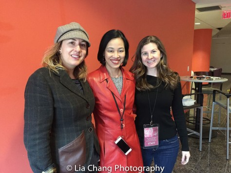 Genevieve McPherson, Lia Chang and Kayla O'Donnell at TWFF2016 at the University of the Arts' Caplan Recital Hall in Philadelphia on March 13, 2016. Photo by Garth Kravits