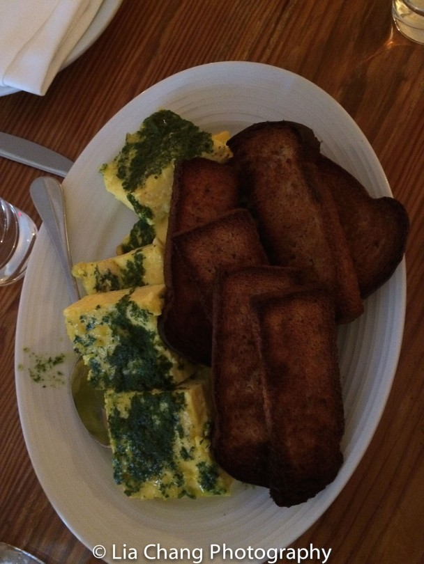 Potato Herb Frittata and Toast. Photo by Lia Chang