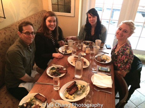 Garth Kravits, Tess McChesney Kunik, Hannah Renée Dobratz and Layne Marie Williams, TWFF'16 Co-Founder/Co-Excutive Director at Russet Restaurant in Philadelphia on March 13, 2016. Photo by Lia Chang