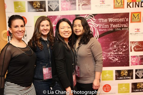 Victoria Place, Kayla O'Donnell, Melissa Kim and Phuong Nguyen at TWFF2016 at the University of the Arts' Caplan Recital Hall in Philadelphia on March 13, 2016. Photo by Lia Chang