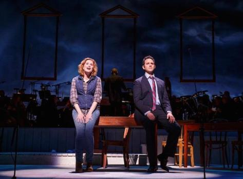 Christiane Noll (Abigail Adams), and Santino Fontana (John Adams)