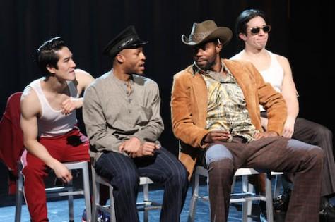 "Cole Horibe, Emmanuel ""Manny"" Brown, Clifton Duncan and Jon Rua in David Henry Hwang's ""Kung Fu."" Photo by Lia Chang"